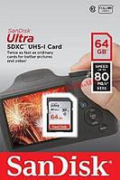 Карта памяти SanDisk Ultra SDXC 64GB Class 10 UHS-I 80MB/ s (SDSDUNC-064G-GN6IN)
