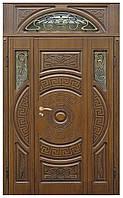 Двери входные полуторные с фрамугой Модель 23