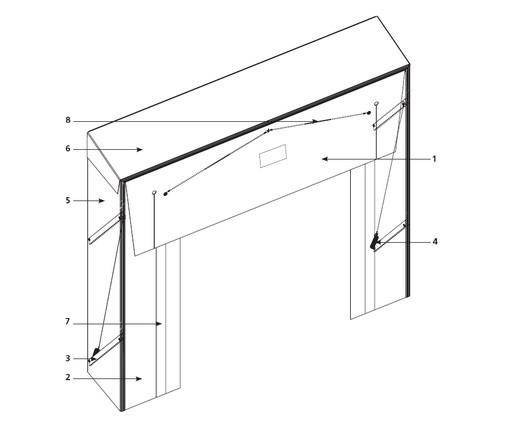 Складной герметизатор проема Doorhan