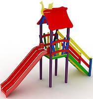 """Детский комплекс Kidigo """"Мини"""" с пластиковой горкой высотой 1,2  м"""