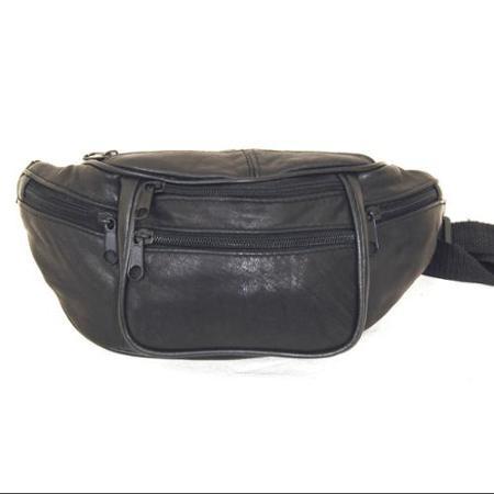 Кожаная сумка на пояс, 6 карманов