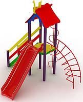 """Детский комплекс Kidigo """"Петушок"""" с пластиковой горкой высотой 1,2  м"""