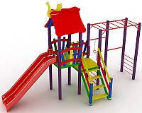 """Детский комплекс Kidigo """"Котик"""" с пластиковой горкой высотой 1,2  м"""