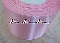 Лента атласная цвет №01(04) (светло-розовый) шириной 5 см