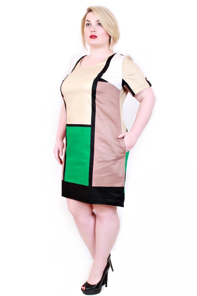 Модное летнее платье большое