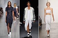 Тренд 2016 - кроссовки с платьями и юбками