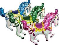 """Шар фольга мини """"Цирковые лошадки"""". Размер: 32cm X 32cm. Пр-во """"FlexMetal"""" (Испания)"""