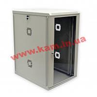 Шкаф 21U, 600х600х1040 мм (Ш*Г*В), акриловое стекло, серый (UA-MGSWA216G)