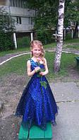 Детское нарядное платье Сияние синие - прокат, Киев, Троещина