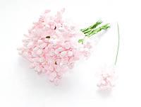 Тычинки Розовые с ягодками и листиками 10 шт/уп на проволоке
