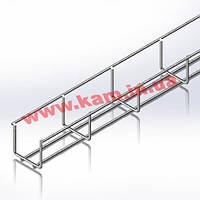 Лоток сетчатый WBB 50х50мм, проволока D4 мм, белый цинк, 2,5 м (CMS-WBB4-5050Z)