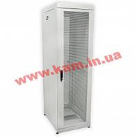"""Шкаф 19"""" 42U, 610х865 мм (Ш*Г), усиленный, перфорированные двери (66%), серый (UA-MGSE4268MPG)"""