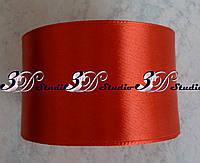 Лента атласная цвет №03(26) (красный) шириной 5 см
