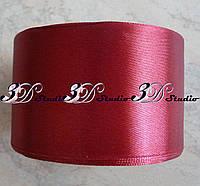 Лента атласная цвет №06(166) (бордо) шириной 5 см