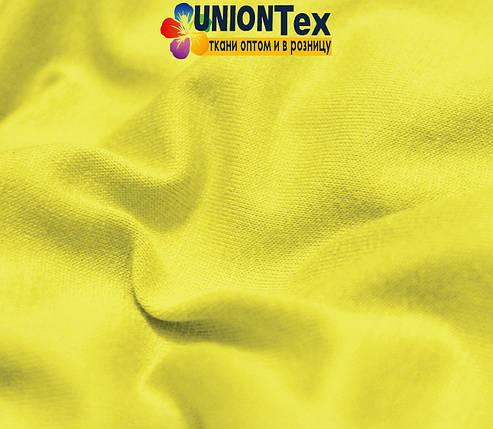 Трикотаж вискоза лимонный (180см), фото 2