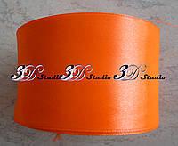 Лента атласная цвет №08(23) (оранжевый неон) шириной 5 см