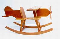 Деревянная качалка Самолет ручной работы