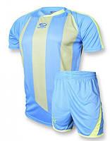 Футбольная форма игровая Europaw 001 (бирюзовый\салатовый), фото 1