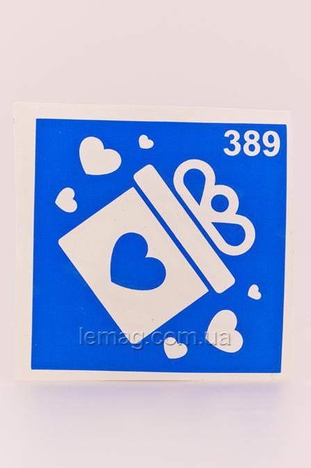 Boni Kasel Трафарет для био тату 6x6 см - 389, 1 шт