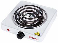 Электроплита настольная SATURN ST-EC1165, портативная компактная плита, электроплита 1-конфорочная настольная
