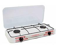 Газовая плита Luxell LX-2833, настольная плитка с двумя конфорками, плита газовая 2 конфорочная настольная