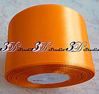Лента атласная цвет №09(25) (ярко-оранжевый) шириной 5 см