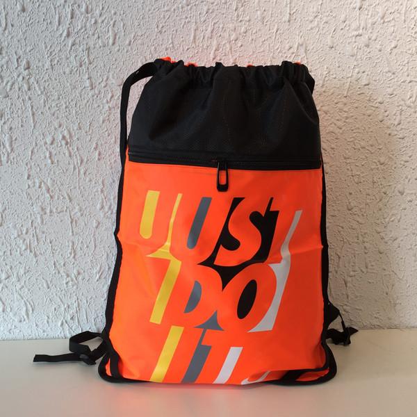 Рюкзак-мешок спортивный оранжевый с черным