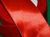 Лента атласная 5 см ( 23 метра) красный 16401