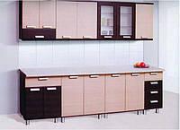 Кухня Терра комплект 2м дуб цинамон + зебрано   Світ Меблів