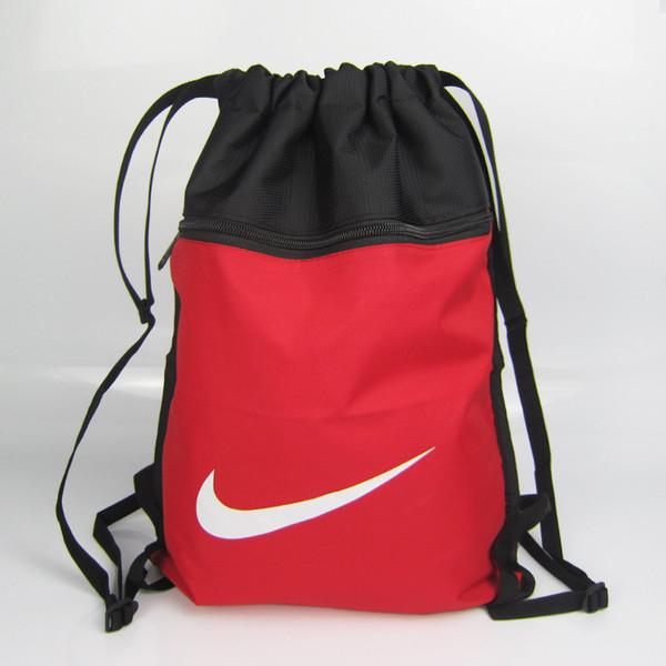 Рюкзак-мешок спортивный для обуви Nike красный с черным (реплика)