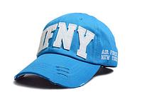 AFNY Бейсболка голубая с буквами унисекс
