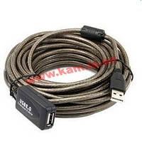 Удлинитель активный USB2.0 A M/ F 15.0m, Active D=5.0mm Ferrite Nickel, Standart, пр (78.01.4366-25)
