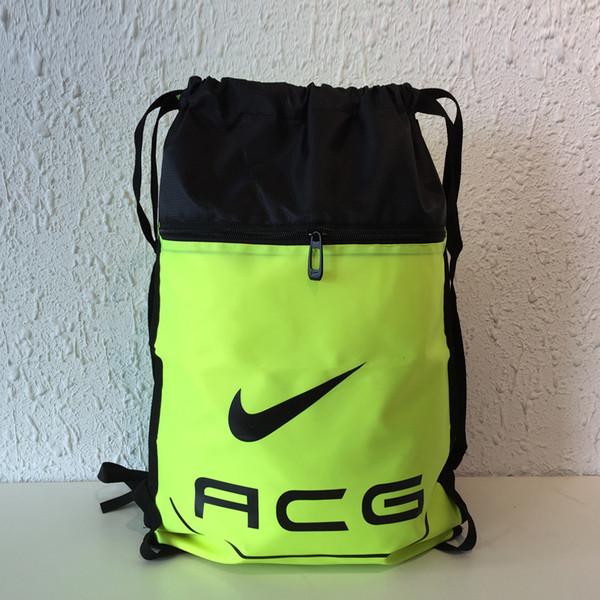 Рюкзак-мешок спортивный ACG салатовый с черным (реплика)