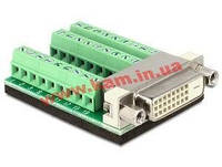 Терминалблок Terminalblock->DVI,/ F 27pin DVI24+1 Pitch=3.81mm, Standart, зеленый (70.06.5169-20)