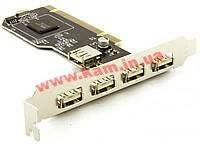Контроллер PCI -> USB2.0 Ax5, x5 (4xExt+1xInt) port, Standart (70.08.9028-20)