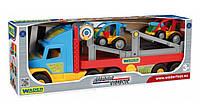 Игрушечный Перевозчик эвакуатор с авто-багги 36630 Wader Super Truck