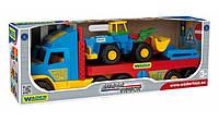 Игрушечный эвакуатор с трактором 36520  Wader Super Truck
