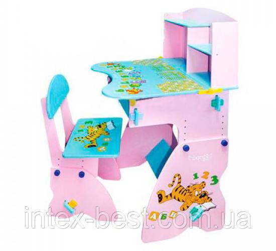 Регулируемая детская парта растишка со стульчиком Bambi W 035
