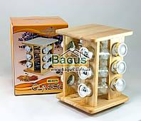 """Набор для специй на деревянной подставке (12 емкостей) Stenson """"Classic"""" (MS-0375)"""