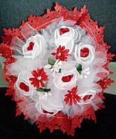 Свадебный букет-дублёр невесты (красный)