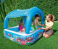 Детский  надувной бассейн. Бассейн с крышей.  Бассейн с надувным дном