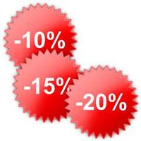 Большая распродажа! Скидки от 10% до 20% на весь товар в наличии! Только с 12 по 17 июня!