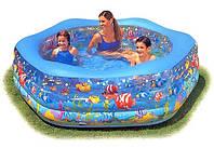 """Детский  надувной бассейн.Надувной бассейн """"Океанский риф"""".  Бассейн с надувным дном"""