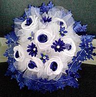 Свадебный букет-дублёр невесты (синий)