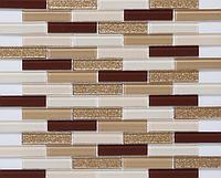Мозаика для стен лапша Vivacer L1123 кофейная