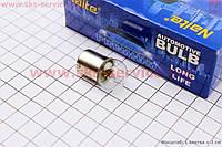 Лампа габарита/приборов белая с цоколем 12V/10W G18 BA15S  10 штук в коробке