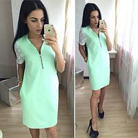 Платье с рукавами из кружева разные цвета SMok269