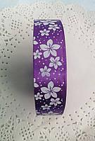 Лента атласная Цветок фиолетовая