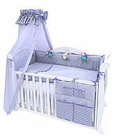 Бампер в детскую кроватку Twins Premium Glamur P-009, фиолетовый