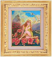 Схема для частичной вышивки бисером картина «Сказка с феей» ВШ,248х305,Габардин,Арт.ЧБ-2 /00-02